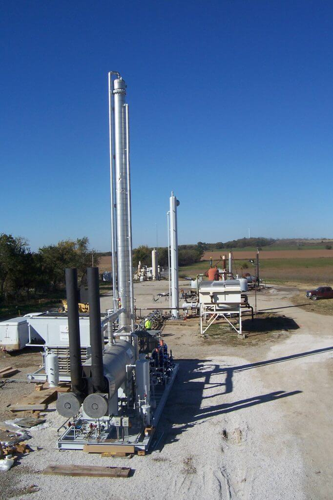 Amine Plant and associated equipment installed on location.